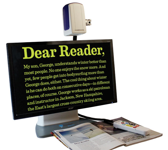 ONYX Deskset HD magnifying text in a document