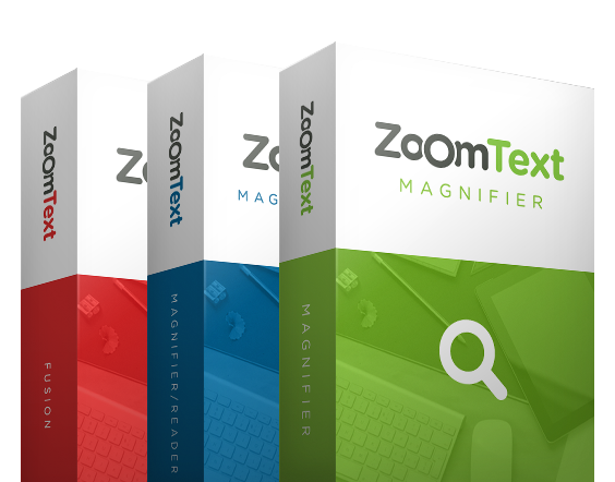 Zoomtext three Boxes