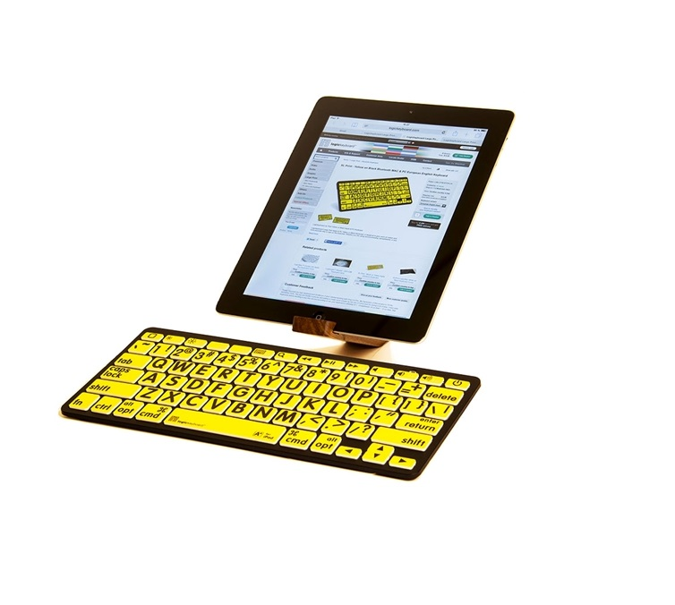 XL Print - Black on Yellow Bluetooth Mini Keyboard