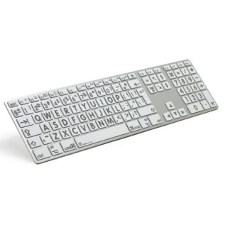 XL Print - Grey on White Apple Advance Line Keyboard